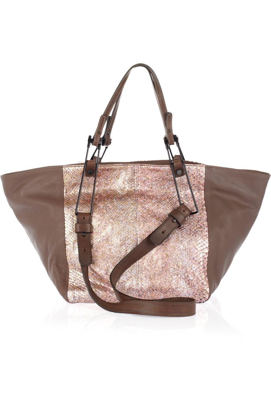 Python and leather tote by Pauric Sweeney