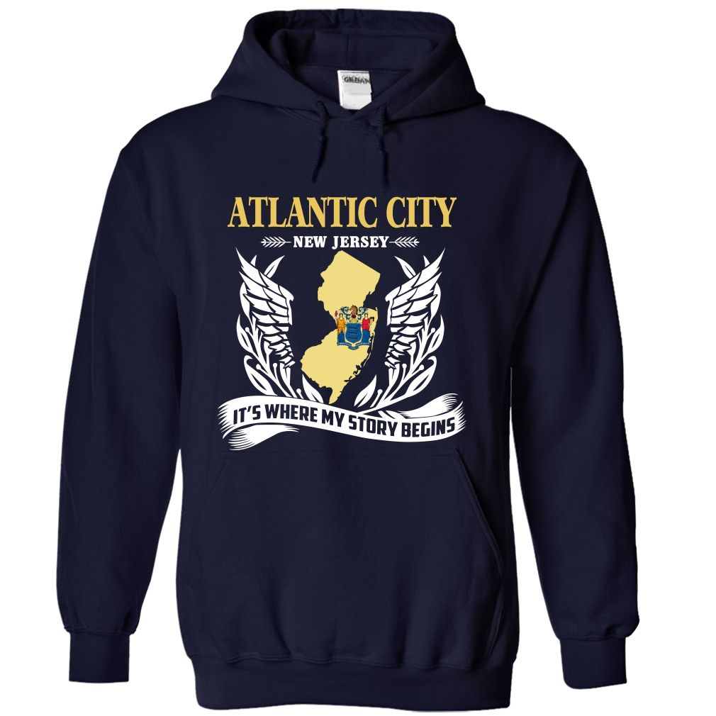 Design your t-shirt egypt - Atlantic City New Jersey Its Where My Story Begins T Shirt Design Own