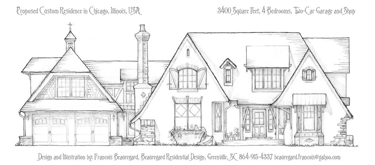 Proposed Custom Home, Front Elevation by Built4ever.deviantart.com ...