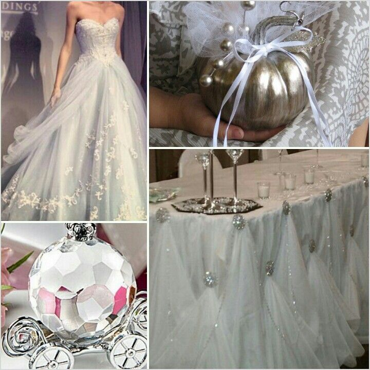 Cinderella Wedding Inspiration- I Want That Table Skirt