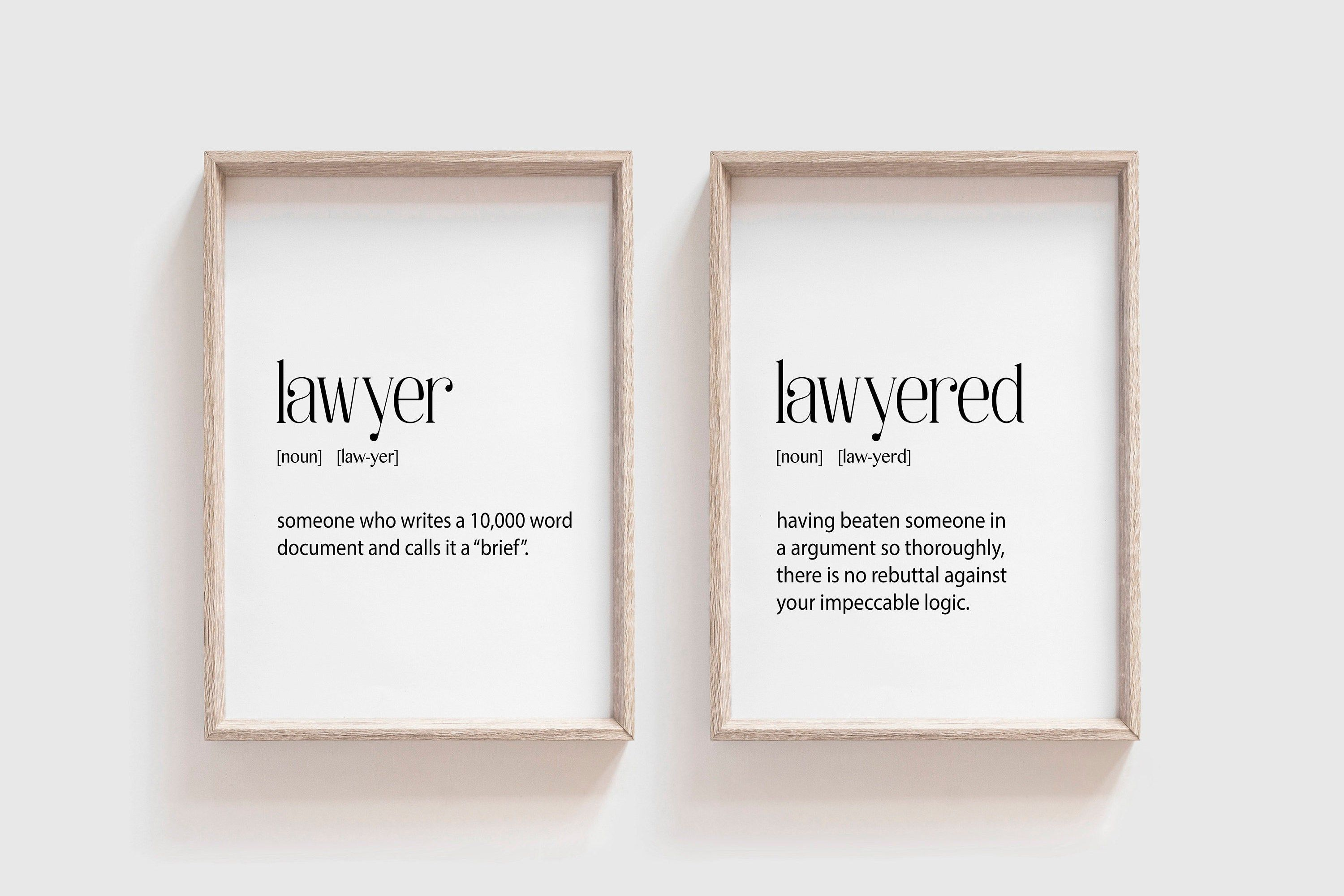 Lawyer Gift Lawyer Definition Lawyer Gift Funny Sign Etsy