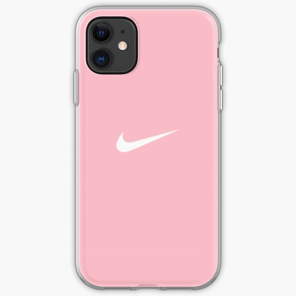 Pink nike print iphone case cover by glitteryhearts