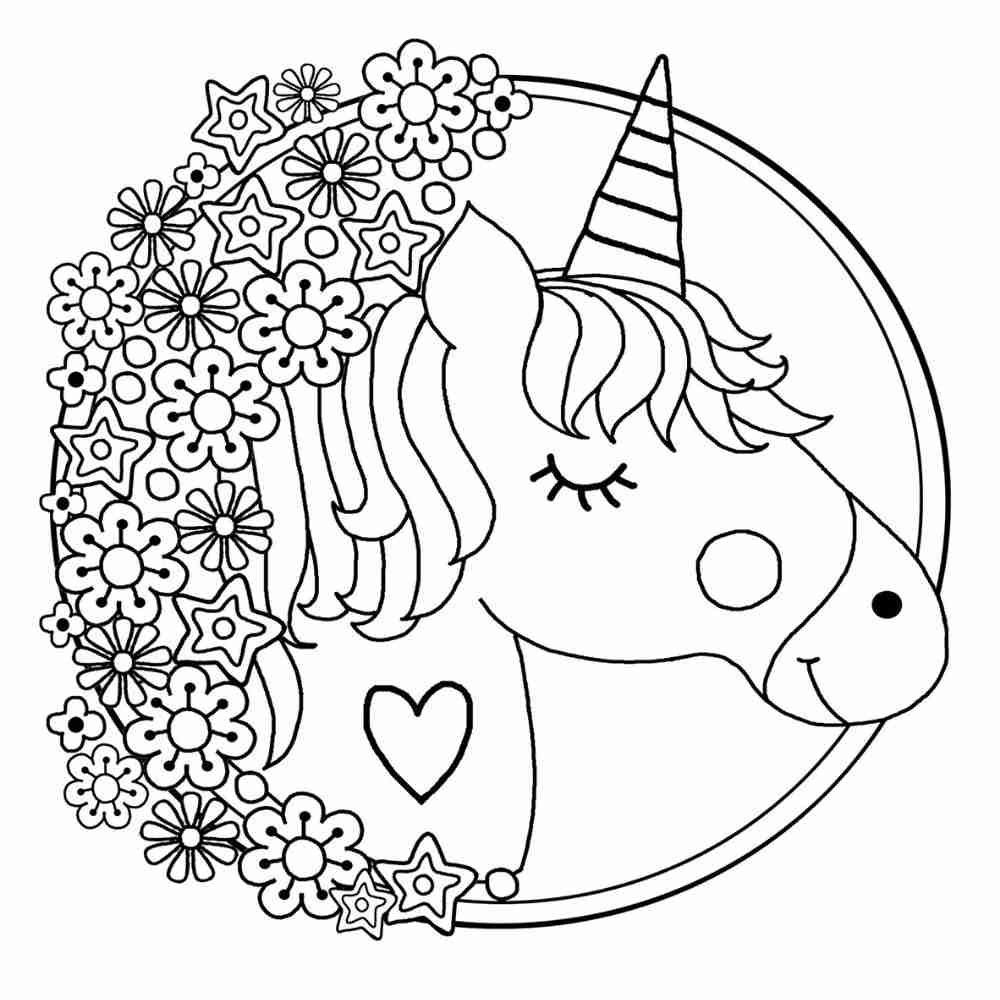 Pin Em Unicornio Para Colorir