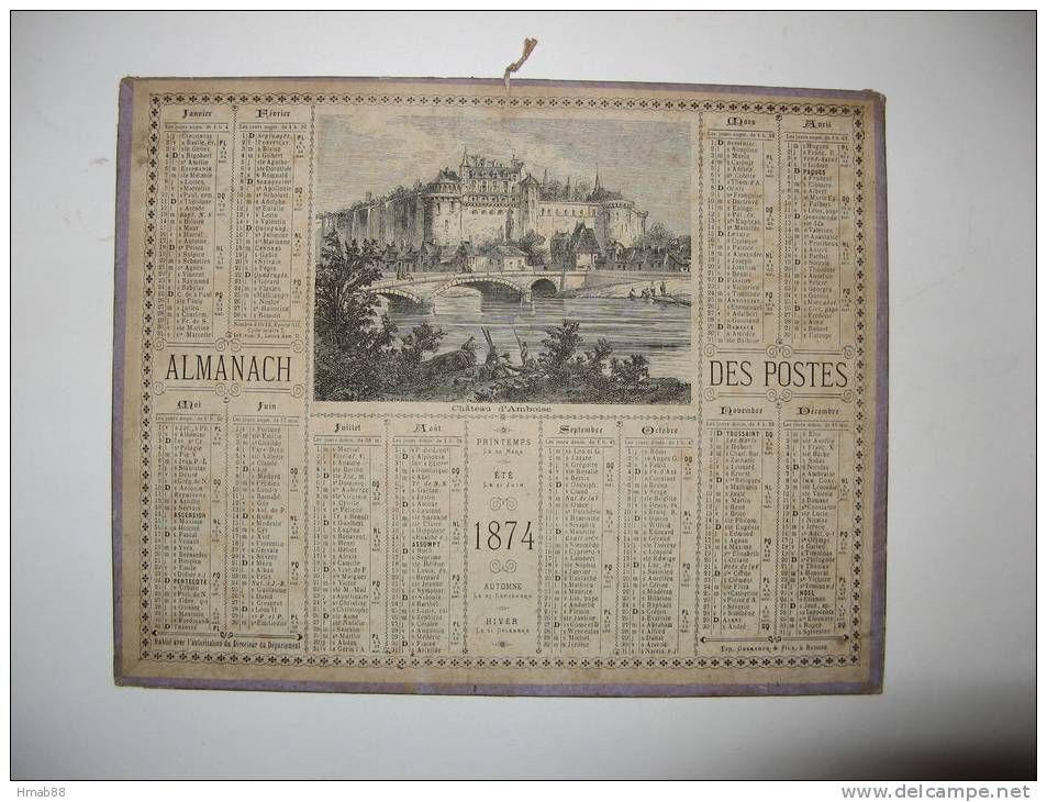 calendrier 1874