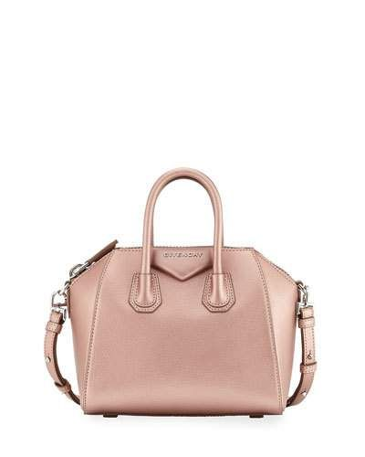 GIVENCHY Antigona Mini Leather Satchel Bag, Light Pink.  givenchy  bags   leather  lining  satchel  metallic  shoulder bags  hand bags  cotton   7a31f20a9f