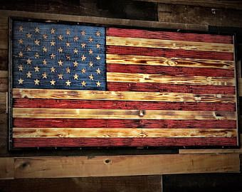 Wooden American Flag Charred W Color Wooden Flag Us Flag Wood Sign Wall Art American Flag Flag Art Gift F Wooden American Flag Wooden Flag Flag Decor