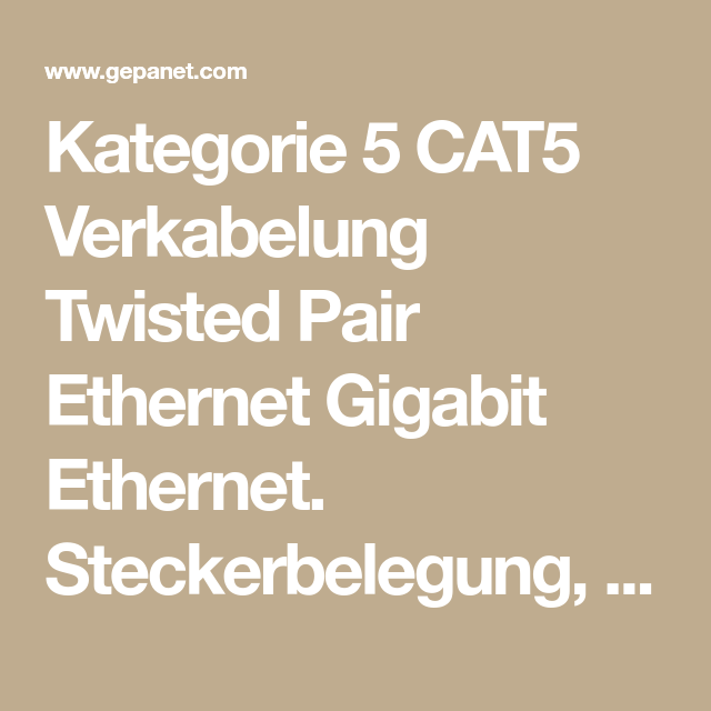 Kategorie 5 CAT5 Verkabelung Twisted Pair Ethernet Gigabit Ethernet ...