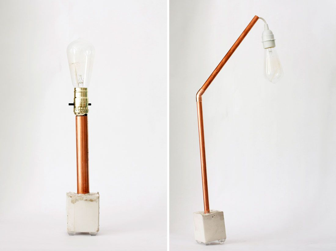 Awesome Let There Be Light: 2 Ways To Make A Copper + Concrete Lamp Via Brit