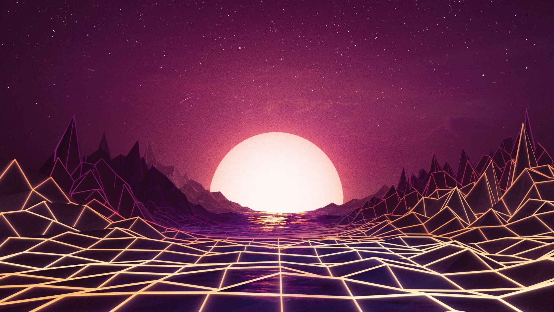 Sunset The Sun Music Space Star Background Neon 80 S Synth Retrowave Synthwave New Retro Wave Futuresynth Sint Wallpaper Synthwave Art Hd Wallpaper