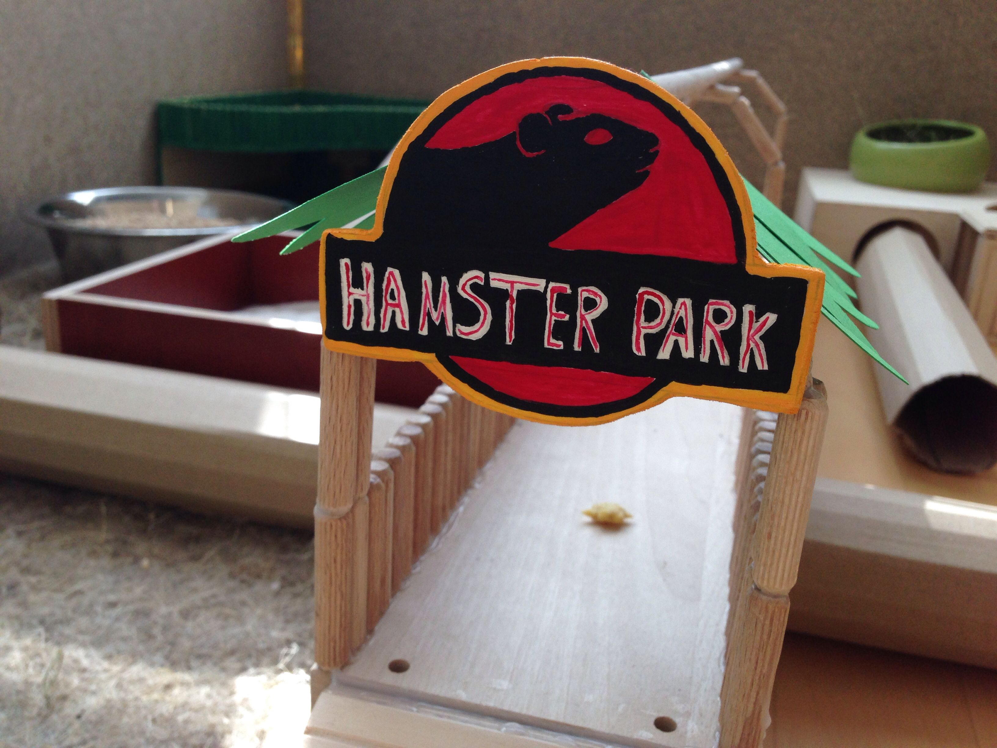 Hamster park playpen jurassic park fan love this so for How to make a diy hamster cage