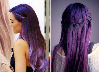 Coloration cheveux mauve