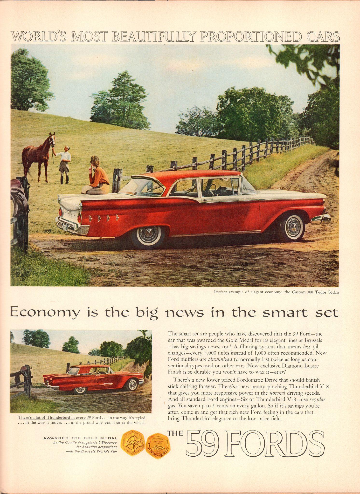 1959 ford custom 300 advertisement life magazine november