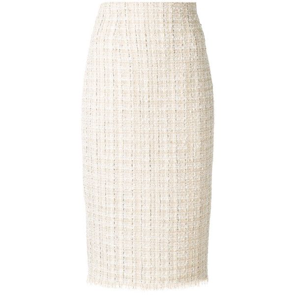 10d16aa8a710 Alexander McQueen high waist pencil skirt ($995) ❤ liked on Polyvore  featuring skirts, pink tweed skirt, high-waisted pencil skirts, sheer  pencil skirt, ...