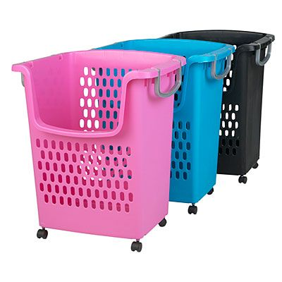 Tall Rolling Storage Basket (Great For BIG And TALL Toys)