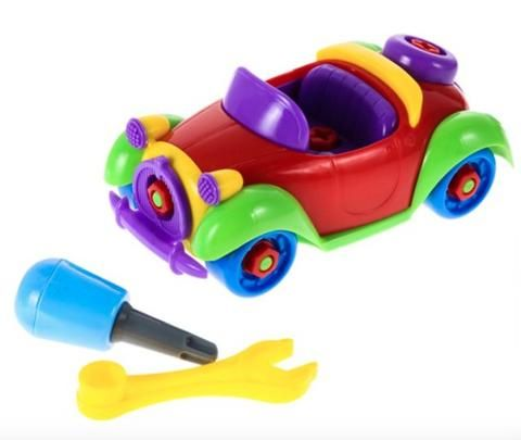 Let your kids take apart and put back together again this toy car. Comes with two tools! www.wowgreatgifts.com