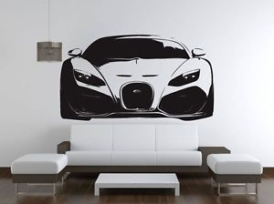 BUGATTI VEYRON Super Sports Car Wall Decal Sticker VE88