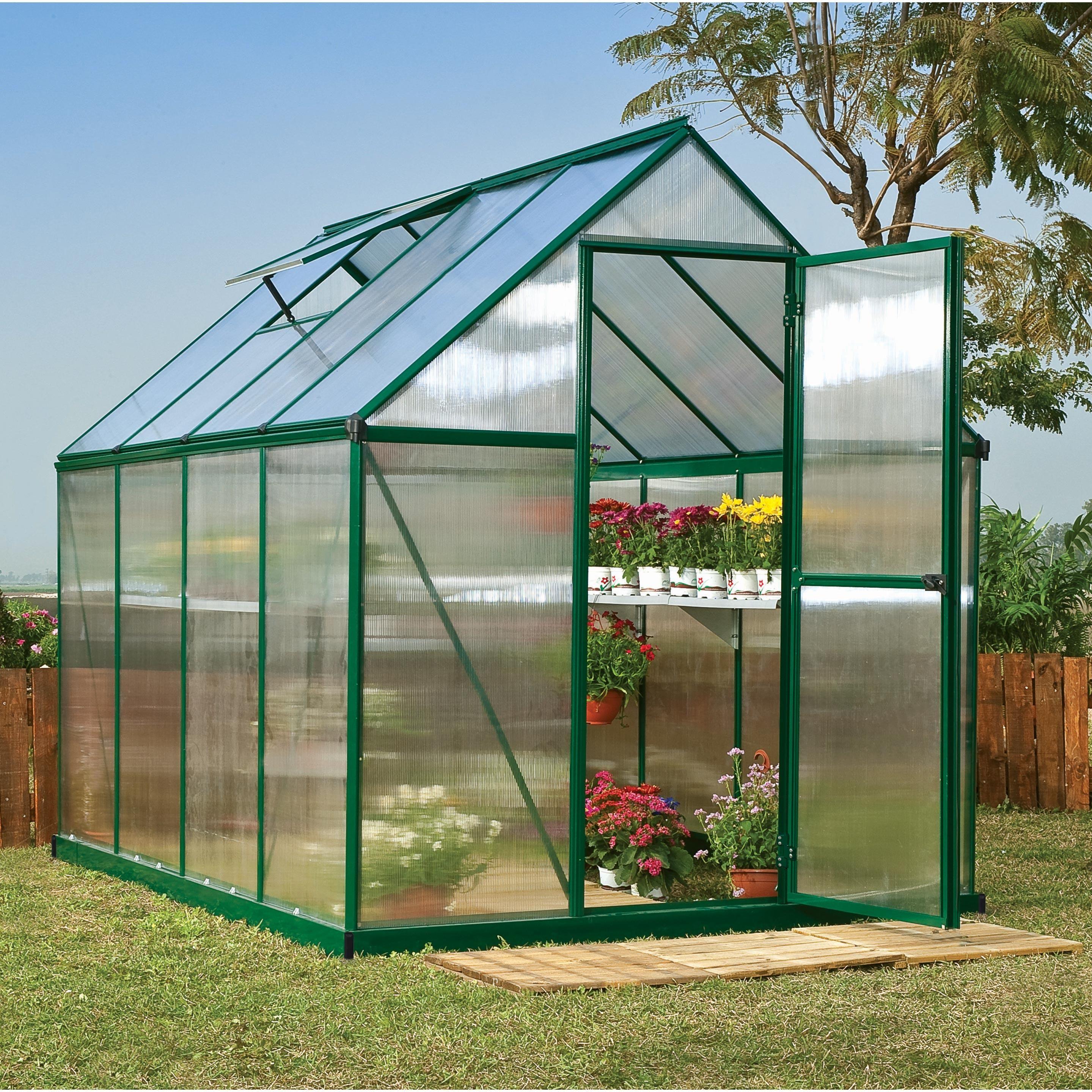 Serre De Jardin Mythos 4 5 M Aluminium Et Polycarbonate Double Parois Palram En 2020 Serre Jardin Maison Verte Et Jardinage Bio