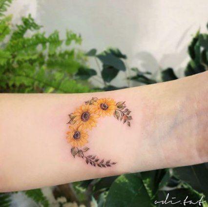 Photo of 35+ Ideas for sunflower moon tattoo sunflowers