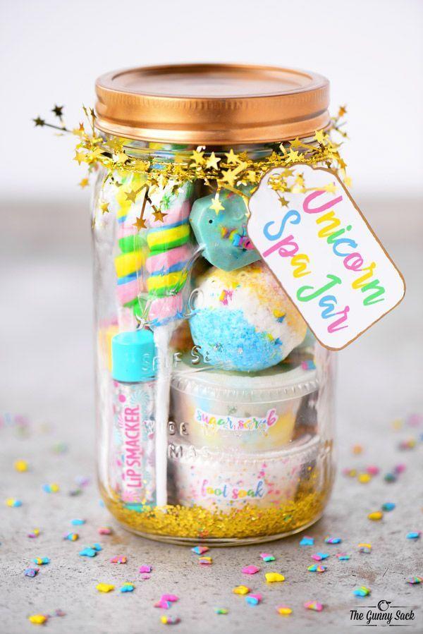 unicorn spa jar gift idea | Cool Party Ideas | Pinterest ...
