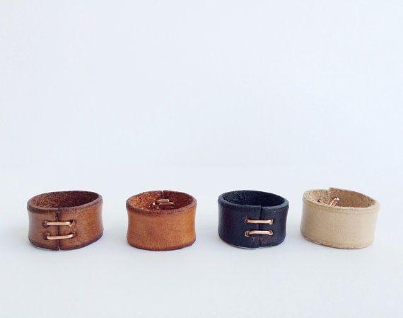 Etsy の Leather Ring Original by ThirteenElevenOlive