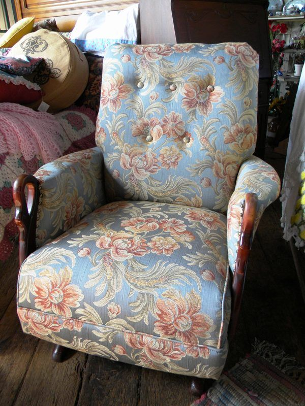 Antique rocking chair with swan arms. Newly refurbished and reupholstered.  $399 We ship. - Antique Rocking Chair With Swan Arms. Newly Refurbished And