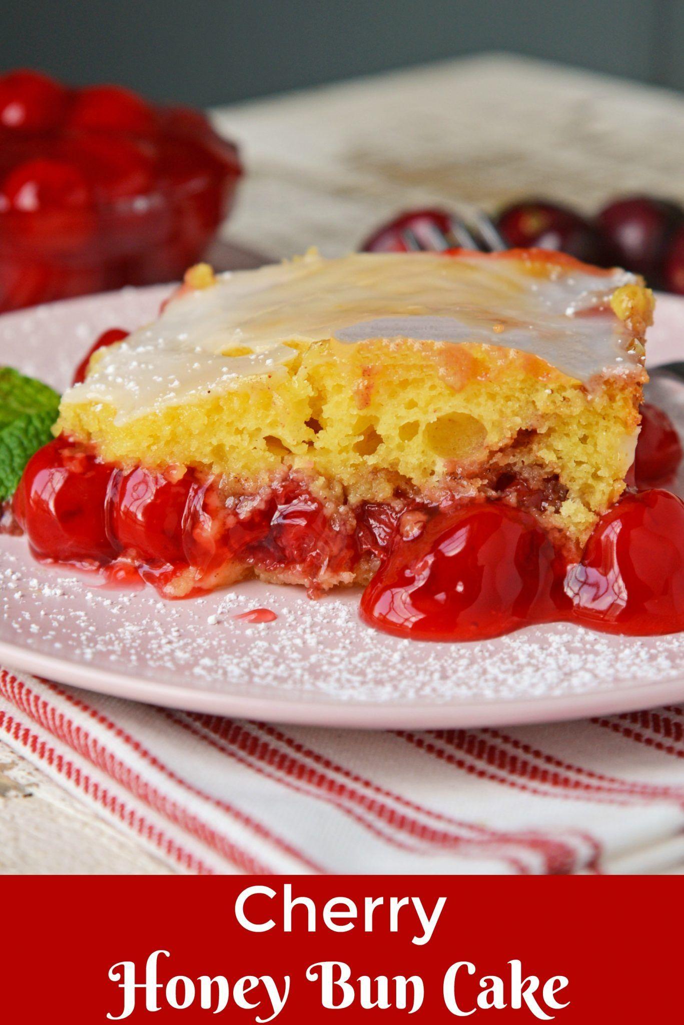 What Is Better Than A Honey Bun Cake A Cherry Honey Bun