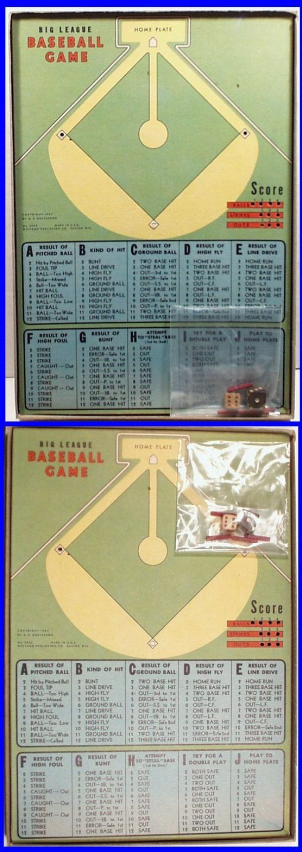 RARE Vintage 1937 BIG LEAGUE BASEBALL Board Game by
