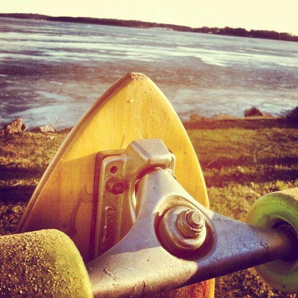 Longboarding by the lake   Photo by bosty123
