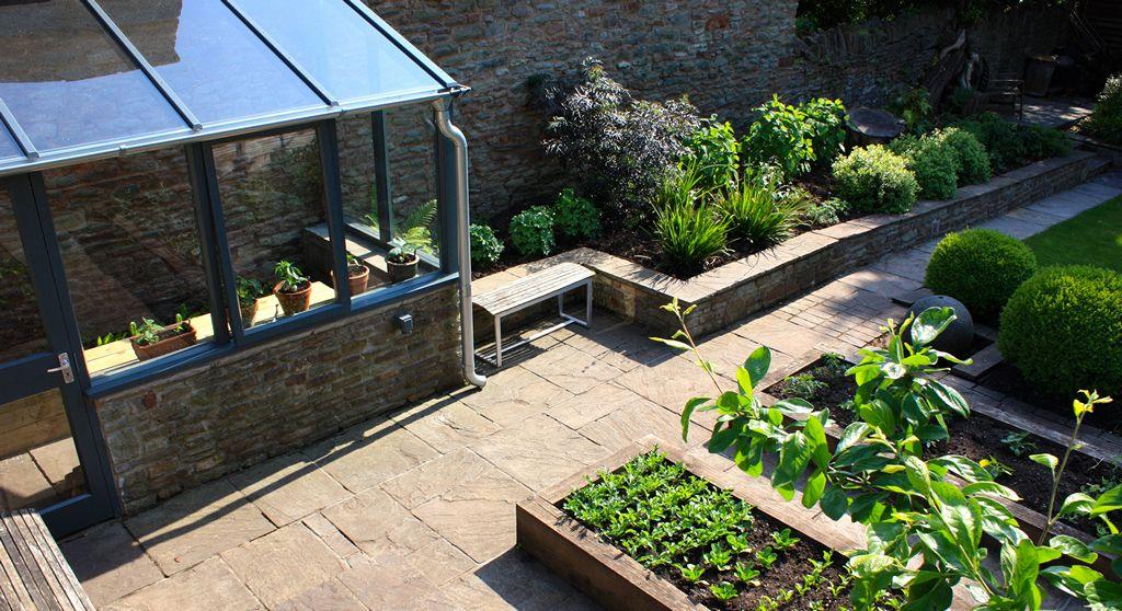 Walled Garden Design, Bristol | Garden wall, Garden design ...
