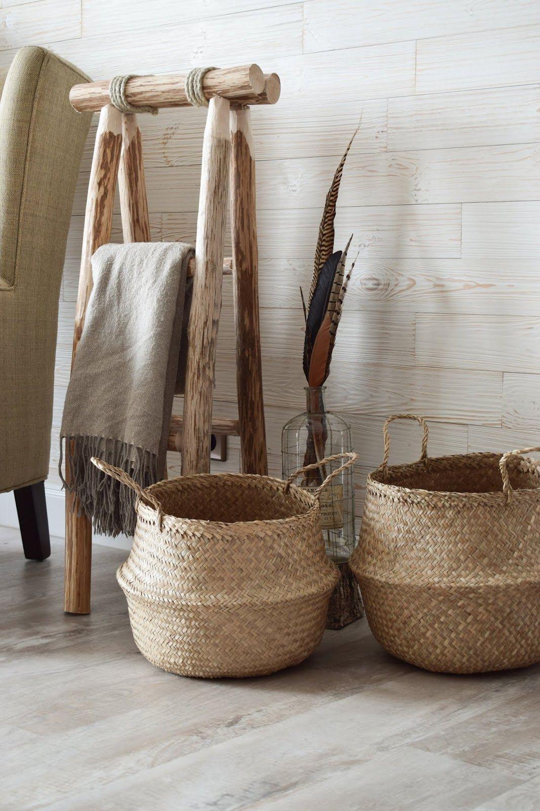 Körbe aus Seegras und Jute  Korb badezimmer aufbewahrung, Körbe