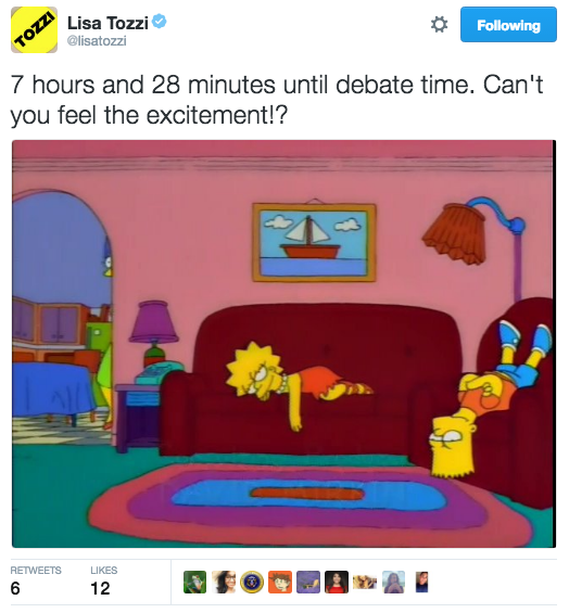 People Are So Excited Super Stoked About The Vice Presidential Debate Os Simpsons Fotos Dos Simpsons Wallpaper De Desenhos Animados