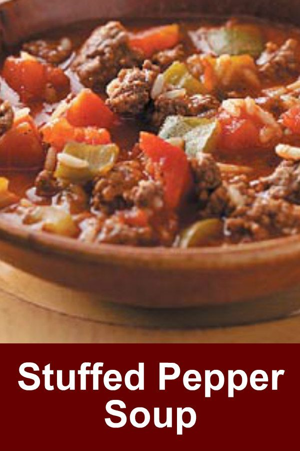 Stuffed Pepper Soup Recipe Soups Pinterest Soup, Recipes and