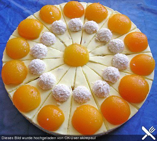 Deutsche Kuchen Rezepte: Aprikosen - Frischkäse - Kuchen