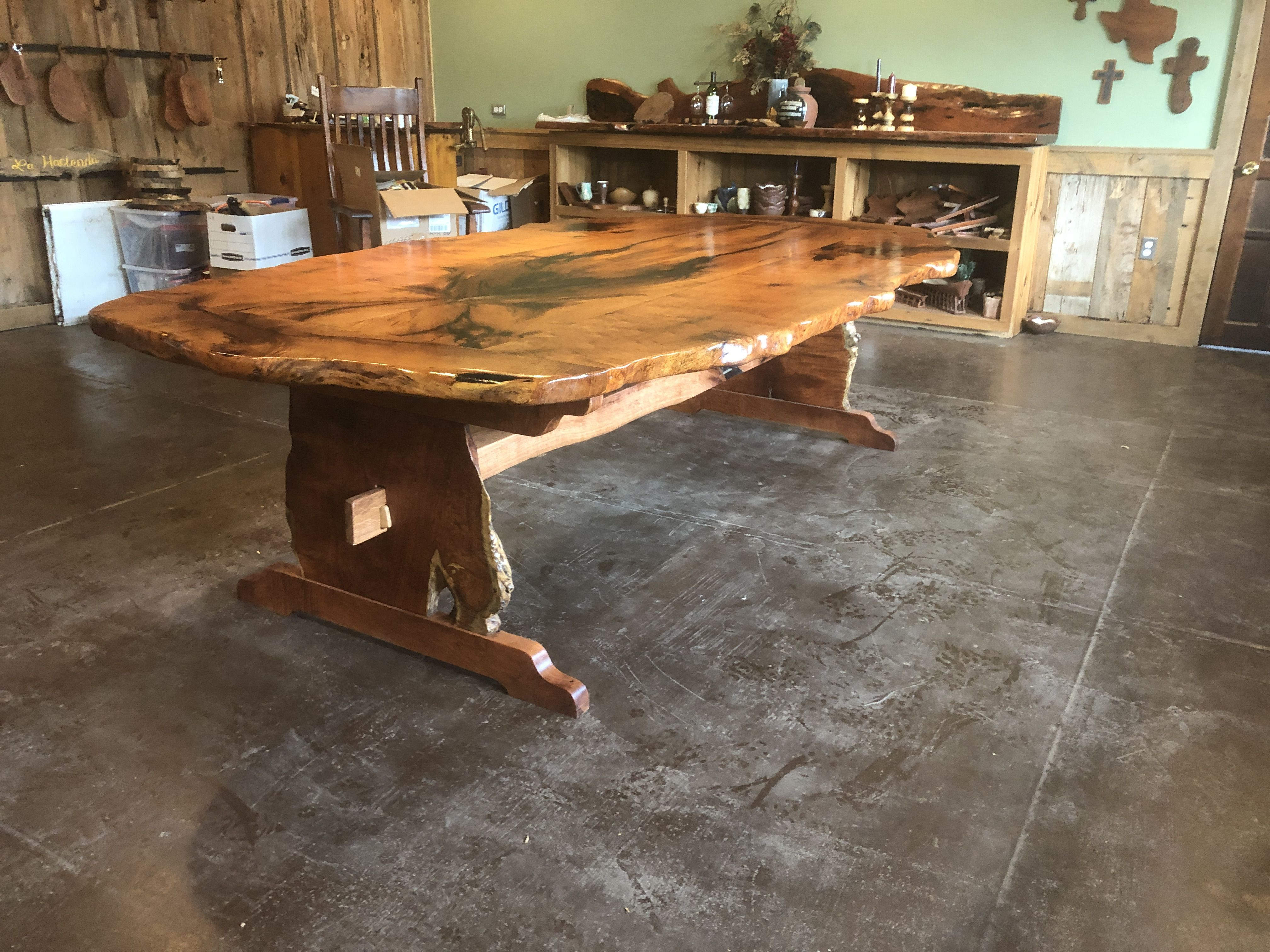 Table Is 9 5 X5 Custom Made From Honey Mesquite By Wendy Nave
