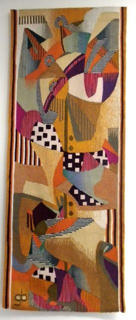 another amazing tapestry by Georgie Bick ~ She is considered to have been of the finest weavers in the world by many established textile authorities.  Ms. Bick has served as consultant to both the Metropolitan Museum in New York and the Art Institute of Chicago. She also instructed fine art tapestry to students. Her works have become more collectable since her recent passing several years ago.  Weaving a tapestry is a laborious process, taking up to two years to finish one.