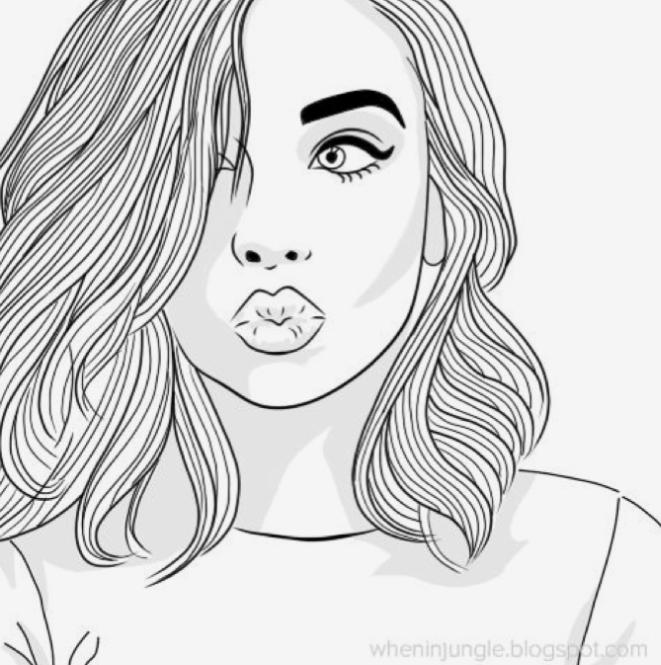 Chica Tumbler Lindos Dibujos Tumblr Chica Tumblr Dibujo Imagenes De Chicas Dibujadas