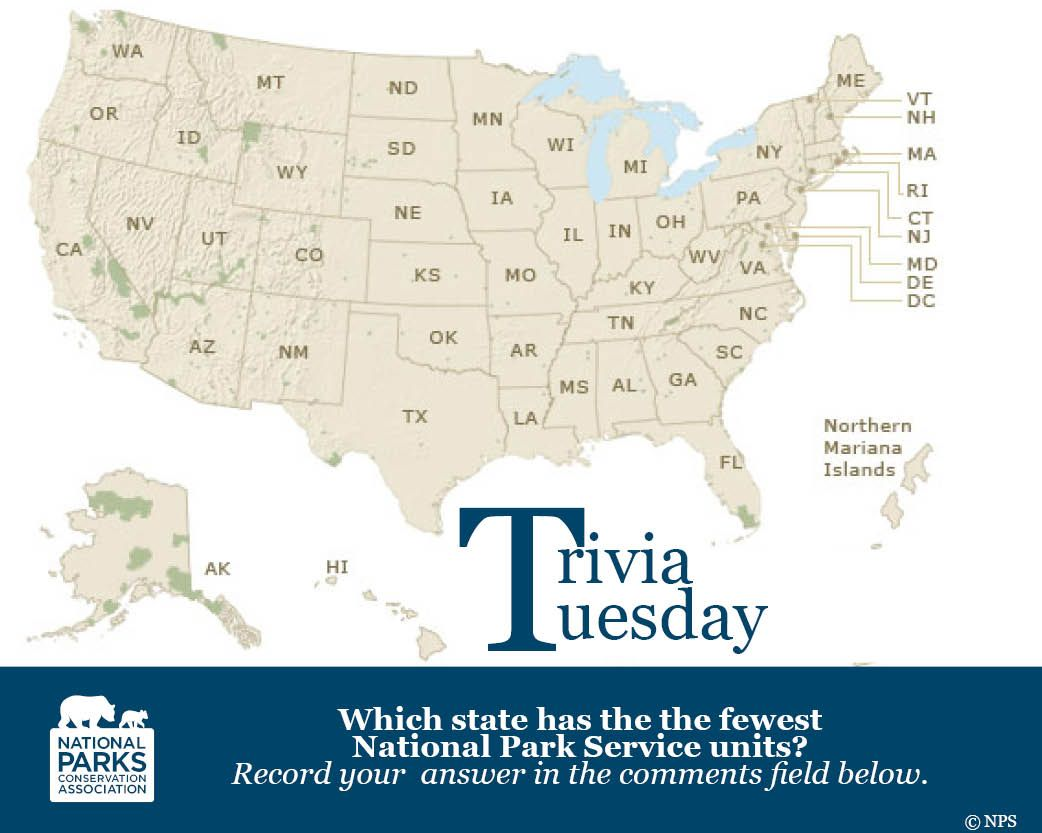 it's trivia tuesday! what state has the most national park service