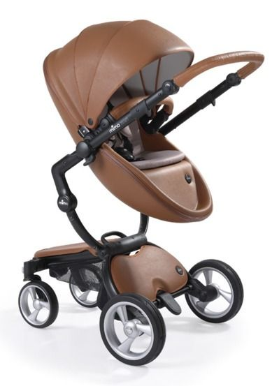 Leather-look Flair pram by Mima