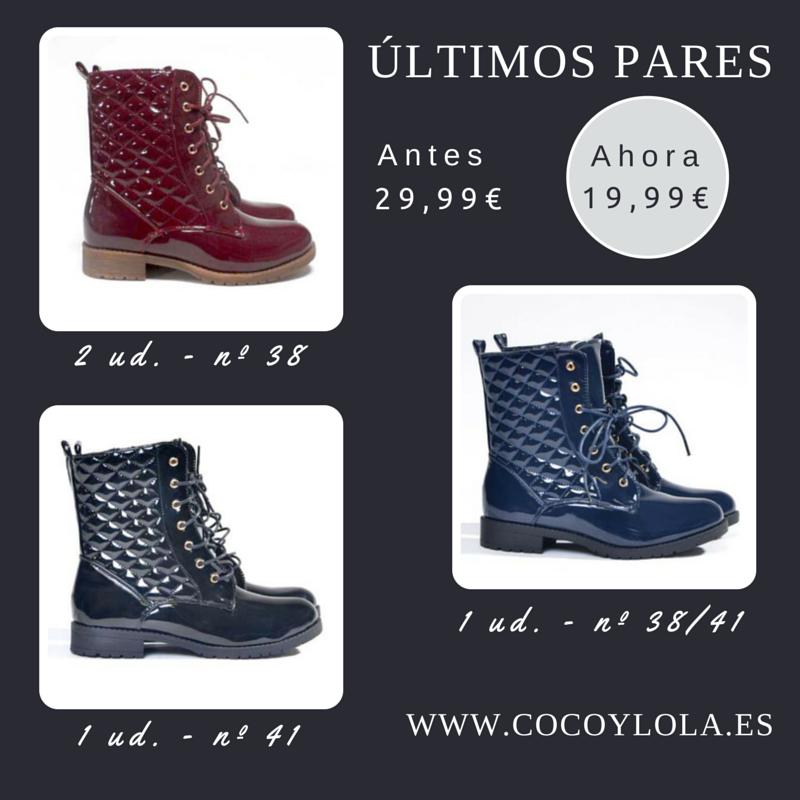 <3 <3  ÚLTIMOS PARES <3 <3  Nuestras botas casual de 29,99€ ahora 19,99€ Negras (nº 41), Azul (nº 38/41) y Granate (nº38) SÓLO PEDIDOS POR FACEBOOK!!!! https://www.facebook.com/cocoylola #shoe #zapatos #sales #offert #ofertas #descuentos #promociones #moda #complementos