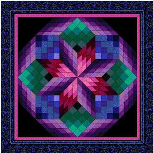 Amazon.com: Broken Star Log Cabin Quilt Pattern | Scrapbook Papers ... : bargello quilt kits - Adamdwight.com