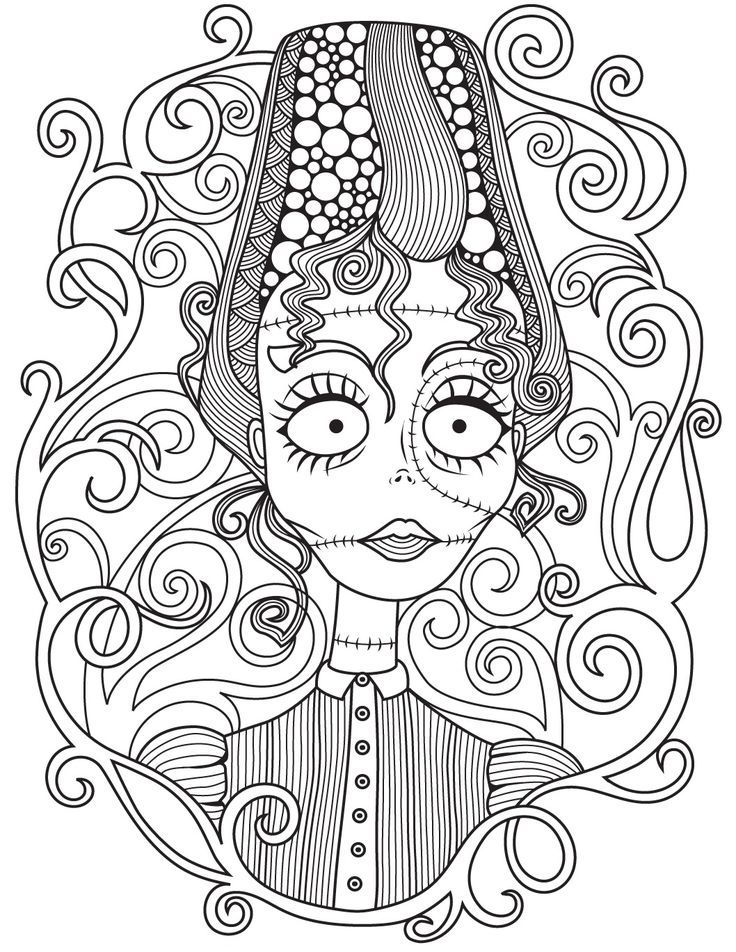 Halloween Coloring Page Colorish Free Coloring App For Adults By Goodsofttech Witch Coloring Pages Mandala Coloring Pages Halloween Coloring Pages