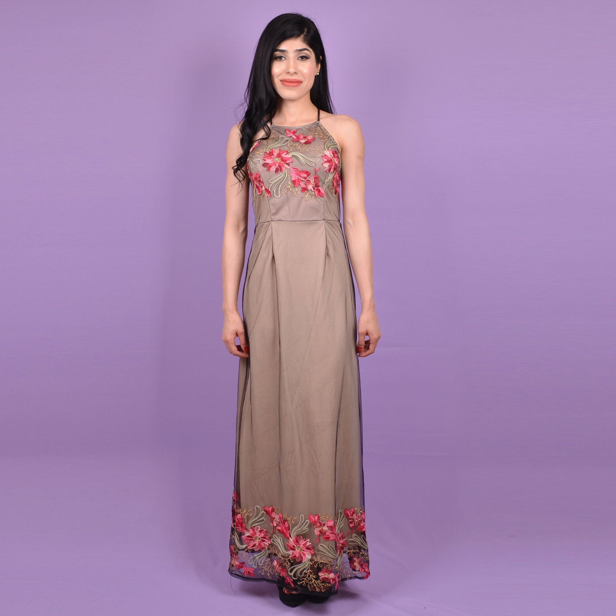 Embroidery long dress products pinterest products