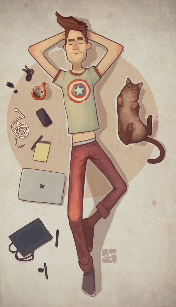wtf - found this under introverts - I laughed out loud when I saw this. This looks just like my area including the cat. I have all of these things within reach. All you need to do is replace the guy and there I am. :) JW