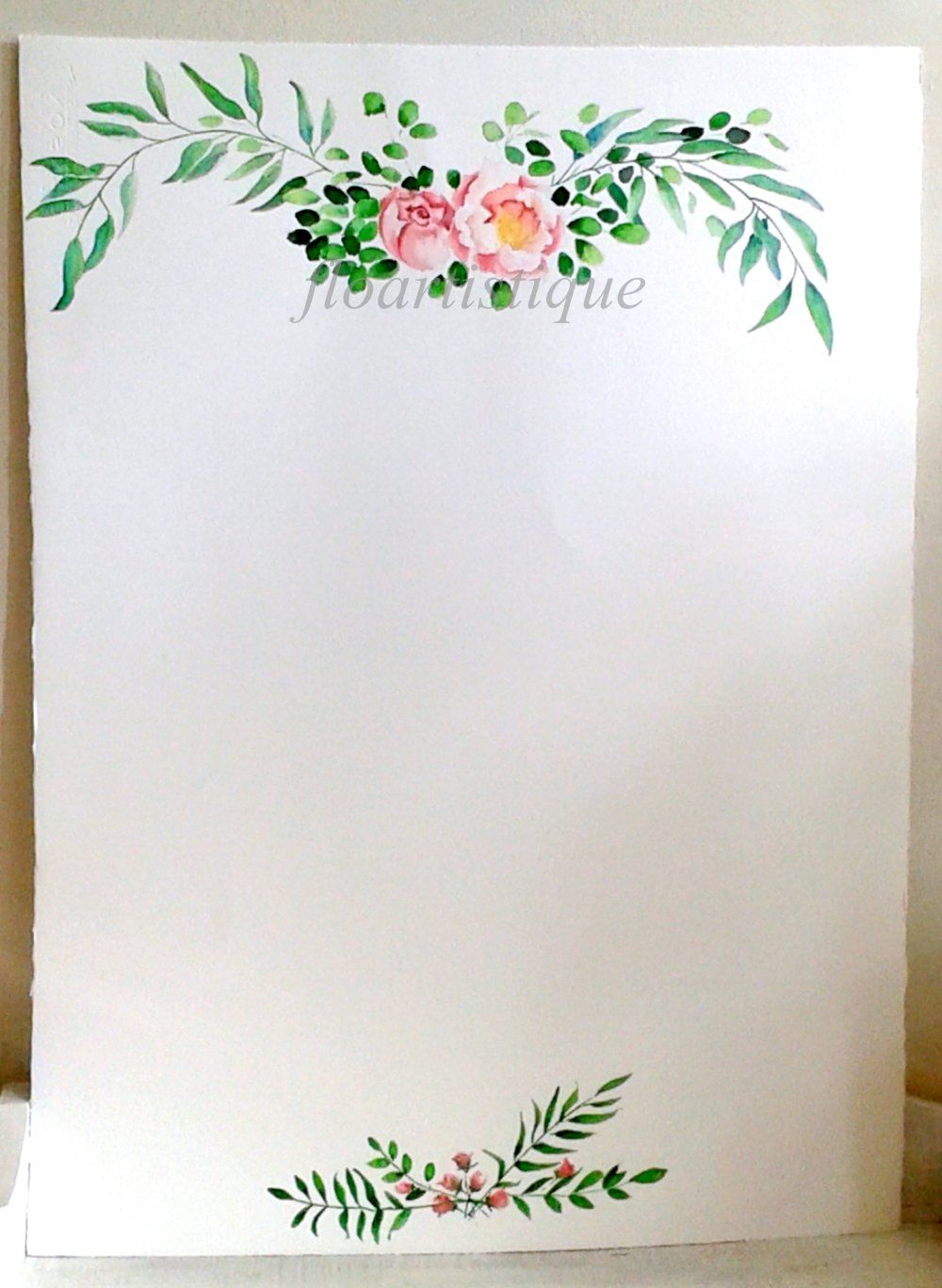 Panneau Aquarelle Pour Plan Table Accueil Reception Mariage
