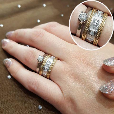 37 combinações de anéis para usar com sua aliança de noivado ... fed09e7eb4