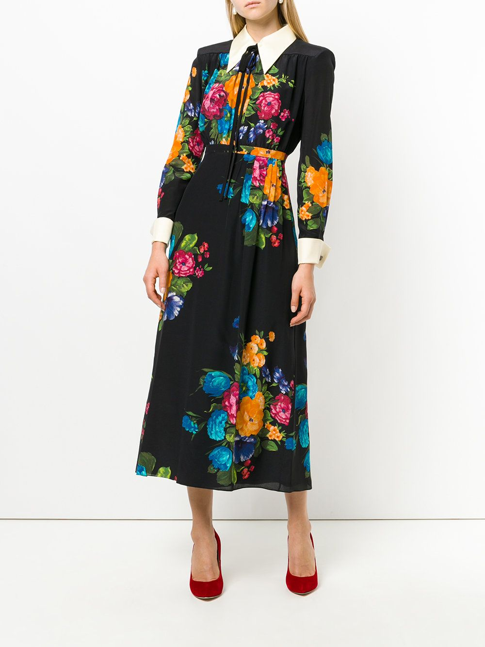 8c815123821 Gucci платье-рубашка с цветочным принтом
