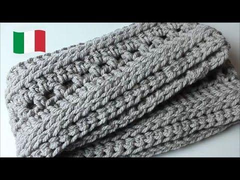 Tutorial Uncinetto Sciarpa Ad Anello Infinity Youtube Crochet Scarves Crochet Scarf Crochet Bag