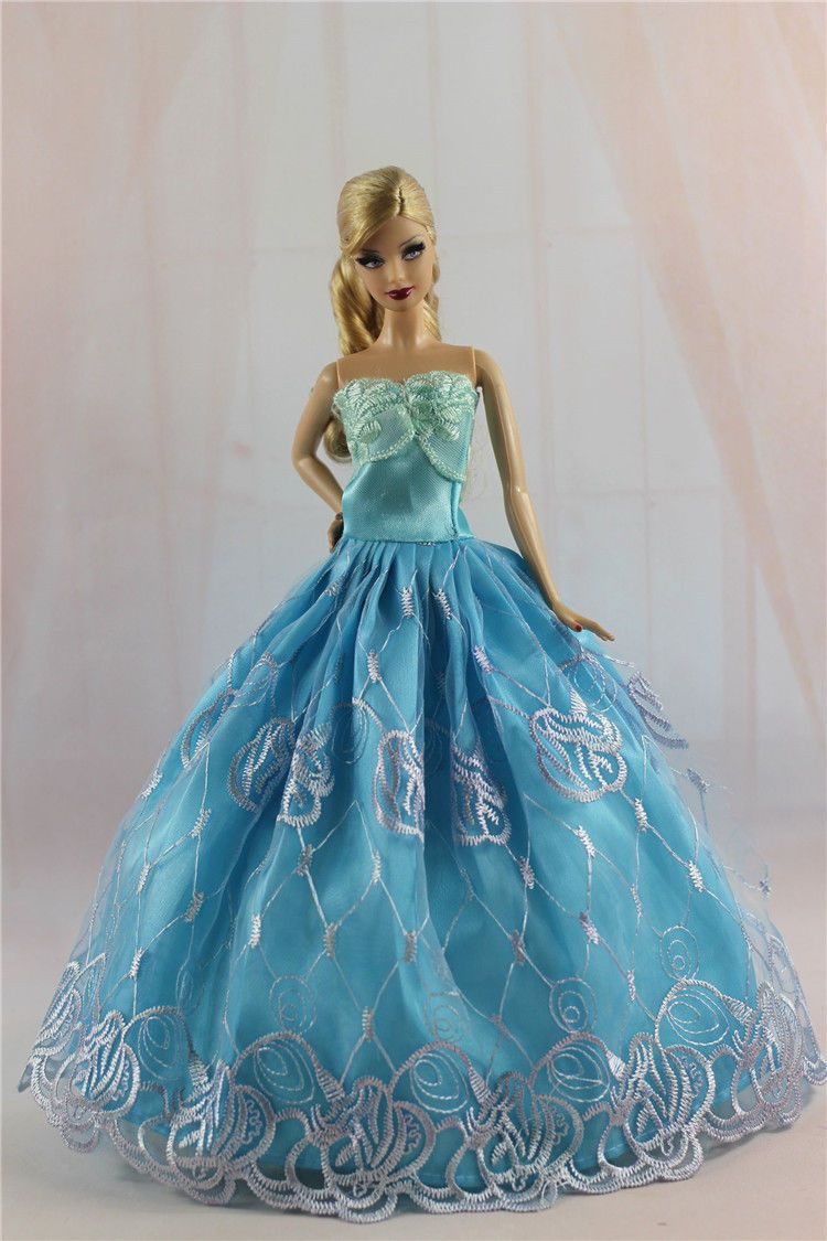 Blue Fashion Princess Party Dress/Evening Clothes/Gown For Barbie ...
