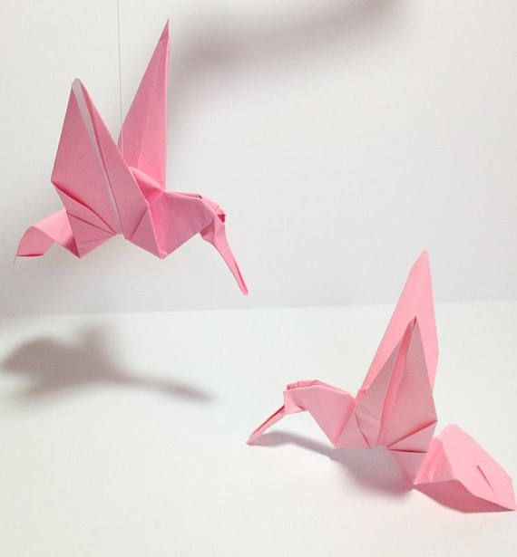 Small Medium Large Origami Hummingbirds Origami Birds Origami