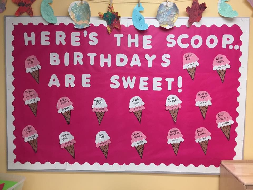 Birthdays Toddlers Toddlerroom Daycare Bulletinboard Bulletinboardideas Summer Birthday Board Classroom Birthday Bulletin Birthday Bulletin Boards